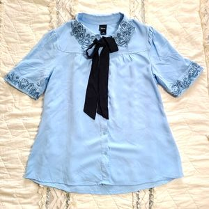 Disney Beauty and the Beast button down blouse